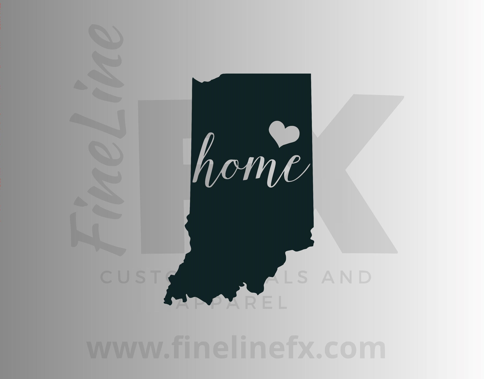 Indiana Home State Vinyl Decal Sticker