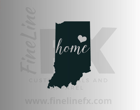 Indiana Home State Vinyl Decal Sticker - FineLineFX