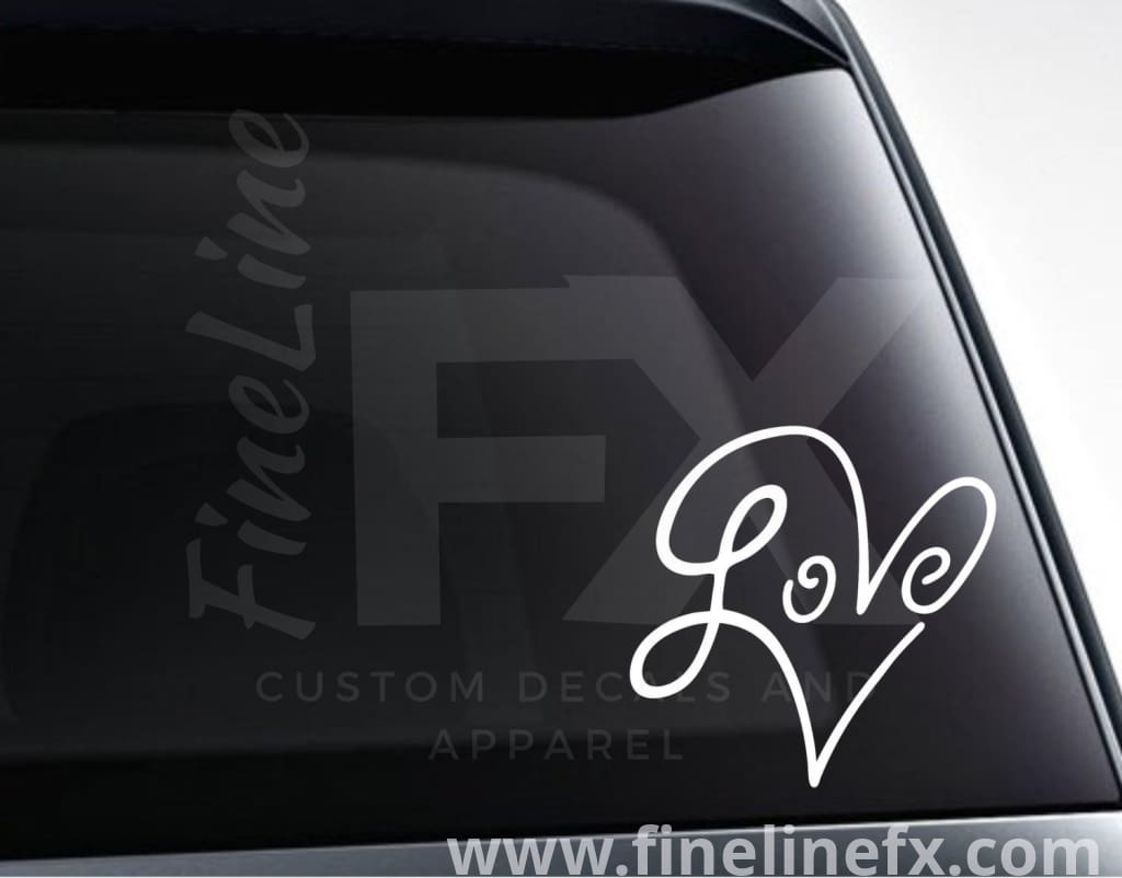 Infinity Love Heart Vinyl Decal Sticker