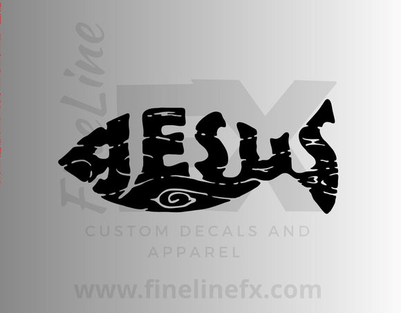 Jesus Fish Vinyl Decal Sticker - FineLineFX