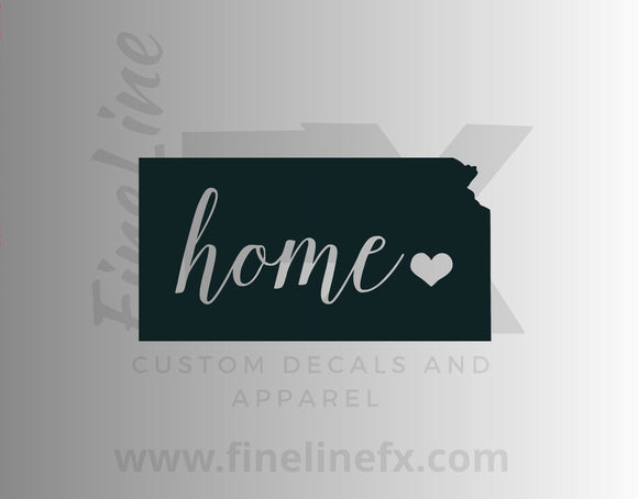 Kansas Home State Vinyl Decal Sticker - FineLineFX