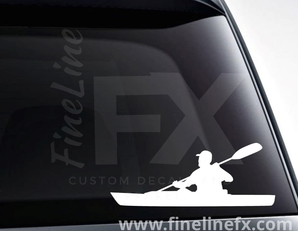 Kayaker Kayaking Vinyl Decal Sticker