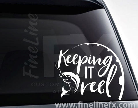 Keeping It Reel Fishing Vinyl Decal Sticker