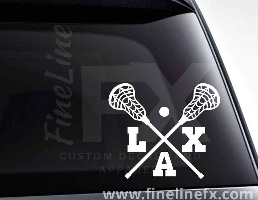 Lacrosse Sticks Lax Vinyl Decal Sticker