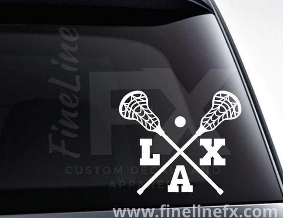 Lacrosse Sticks Lax Vinyl Decal Sticker - FineLineFX