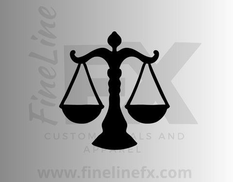 Law Scales Of Justice Vinyl Decal Sticker