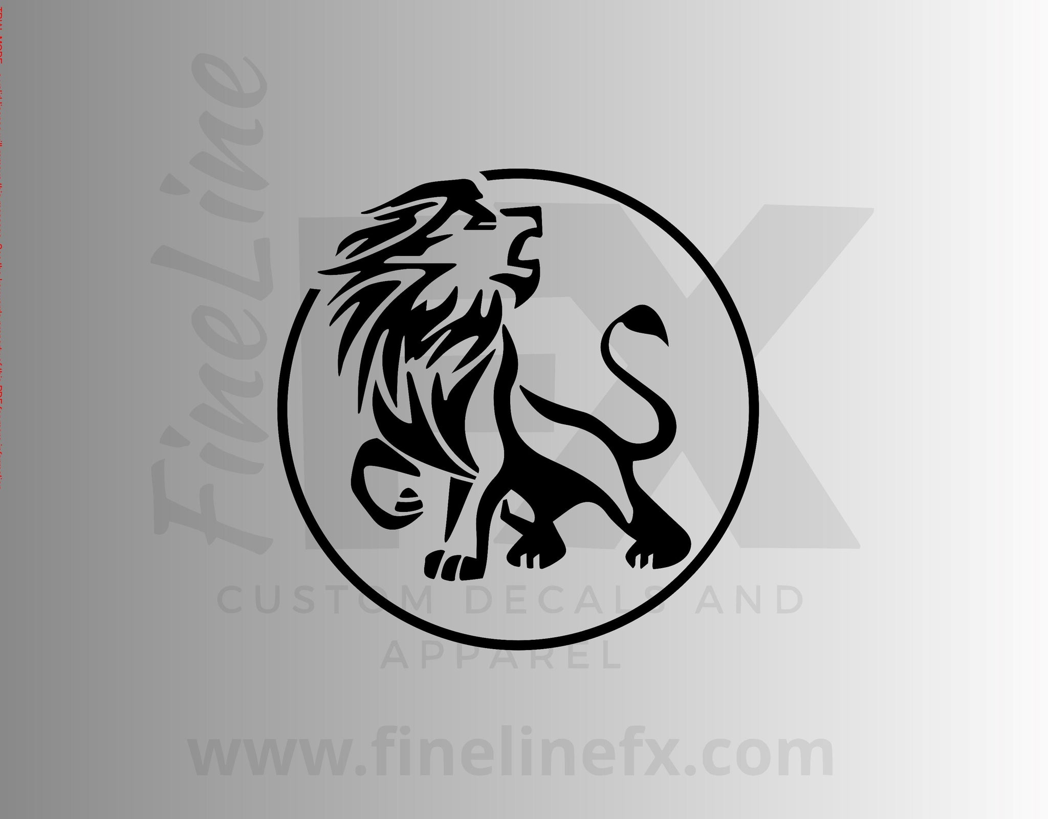 Leo Lion Zodiac Astrology Sign Vinyl Decal Sticker