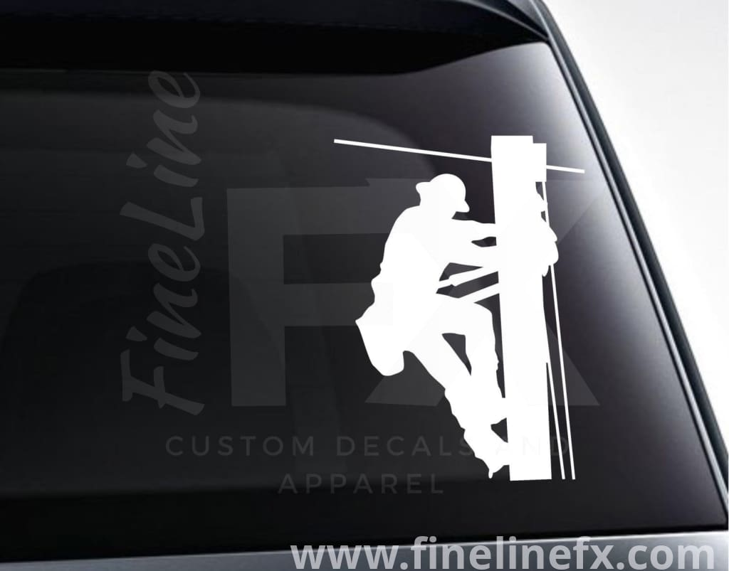 Lineman Electric Utility Worker Vinyl Decal Sticker