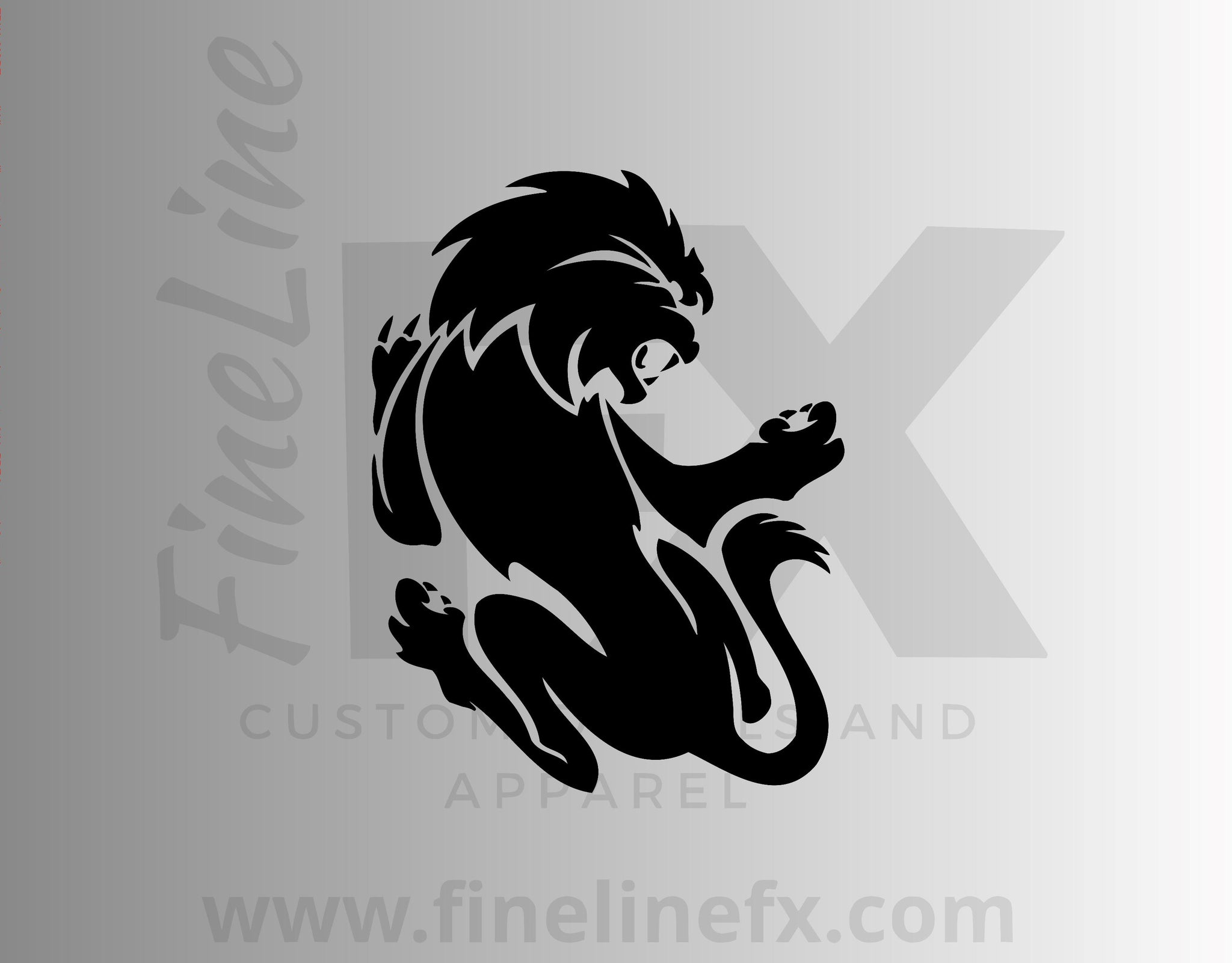 Lion Leo Zodiac Design Vinyl Decal Sticker