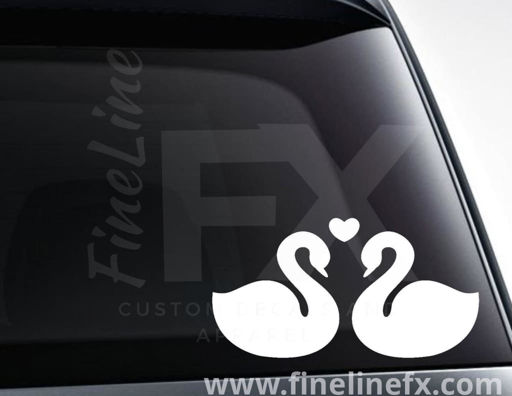 Love Swans Vinyl Decal Sticker