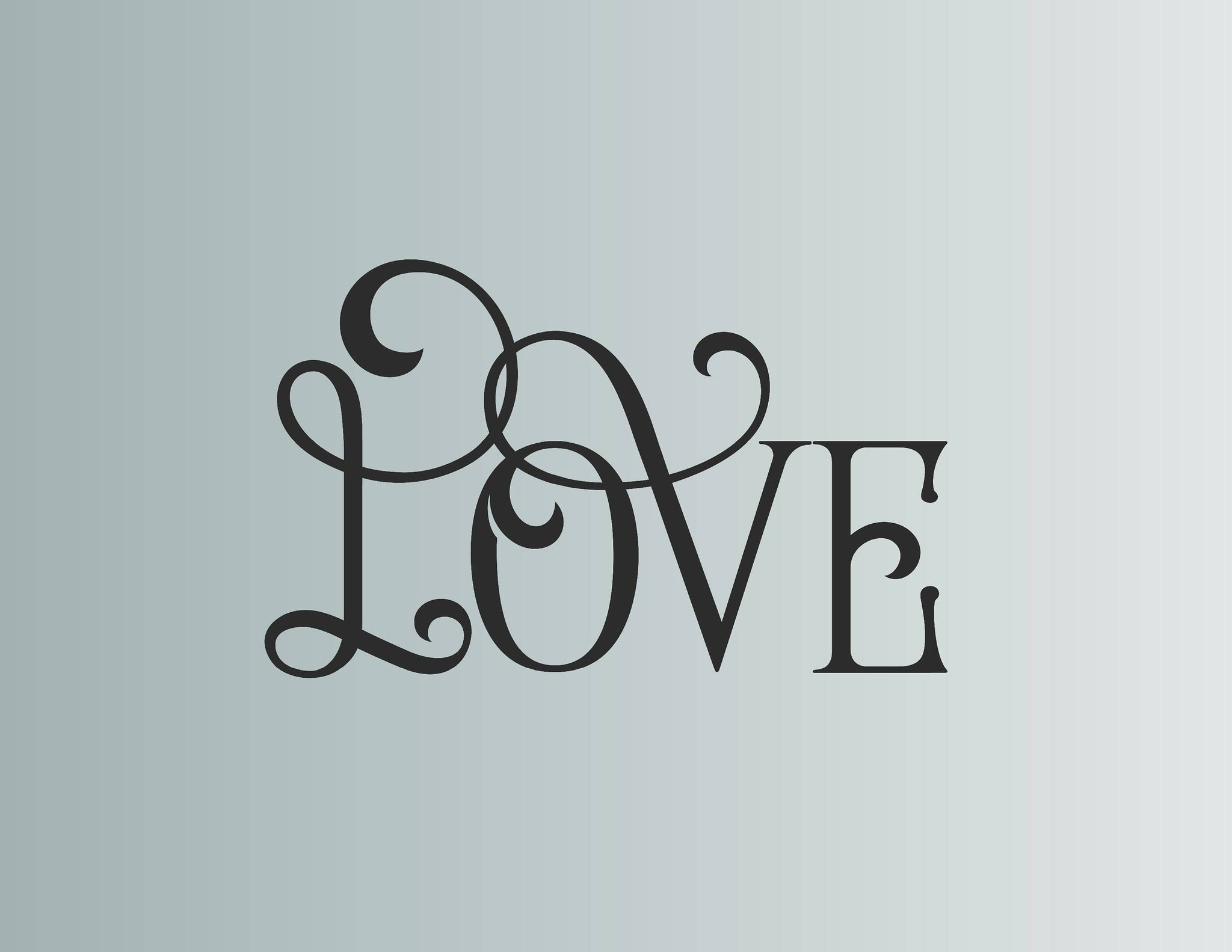 Love Wall Decal, Love Wall Sticker
