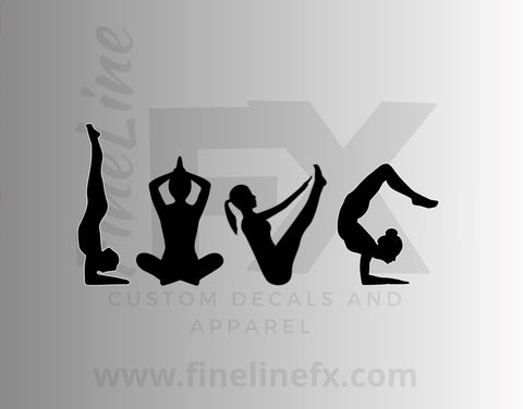 Love Yoga Silhouettes Vinyl Decal Sticker