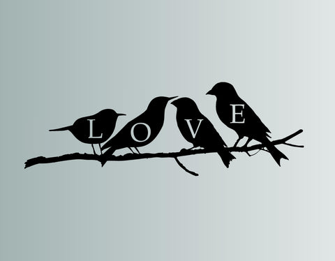 Love Birds Wall Decal
