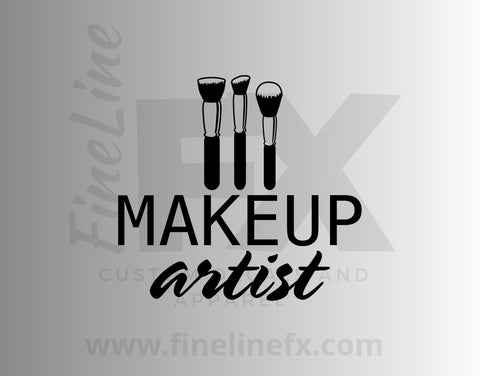 Makeup Artist Vinyl Decal Sticker