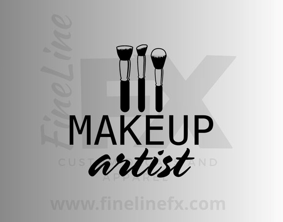 Makeup Artist Vinyl Decal Sticker - FineLineFX