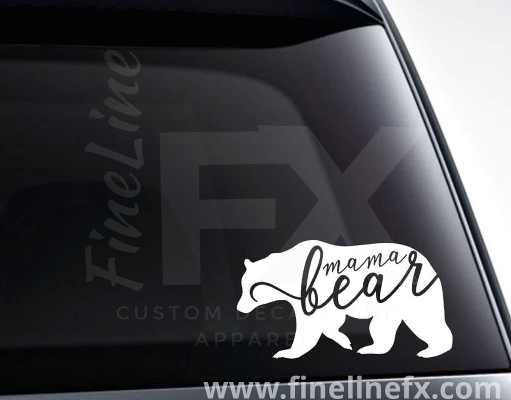 Mama Bear Vinyl Decal Sticker