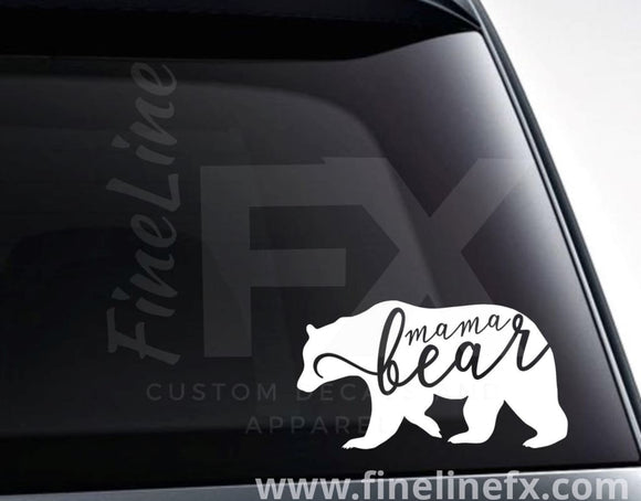 Mama Bear Vinyl Decal Sticker - FineLineFX