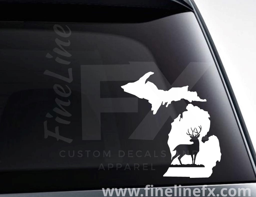 Michigan Buck Deer Hunting Vinyl Decal Sticker