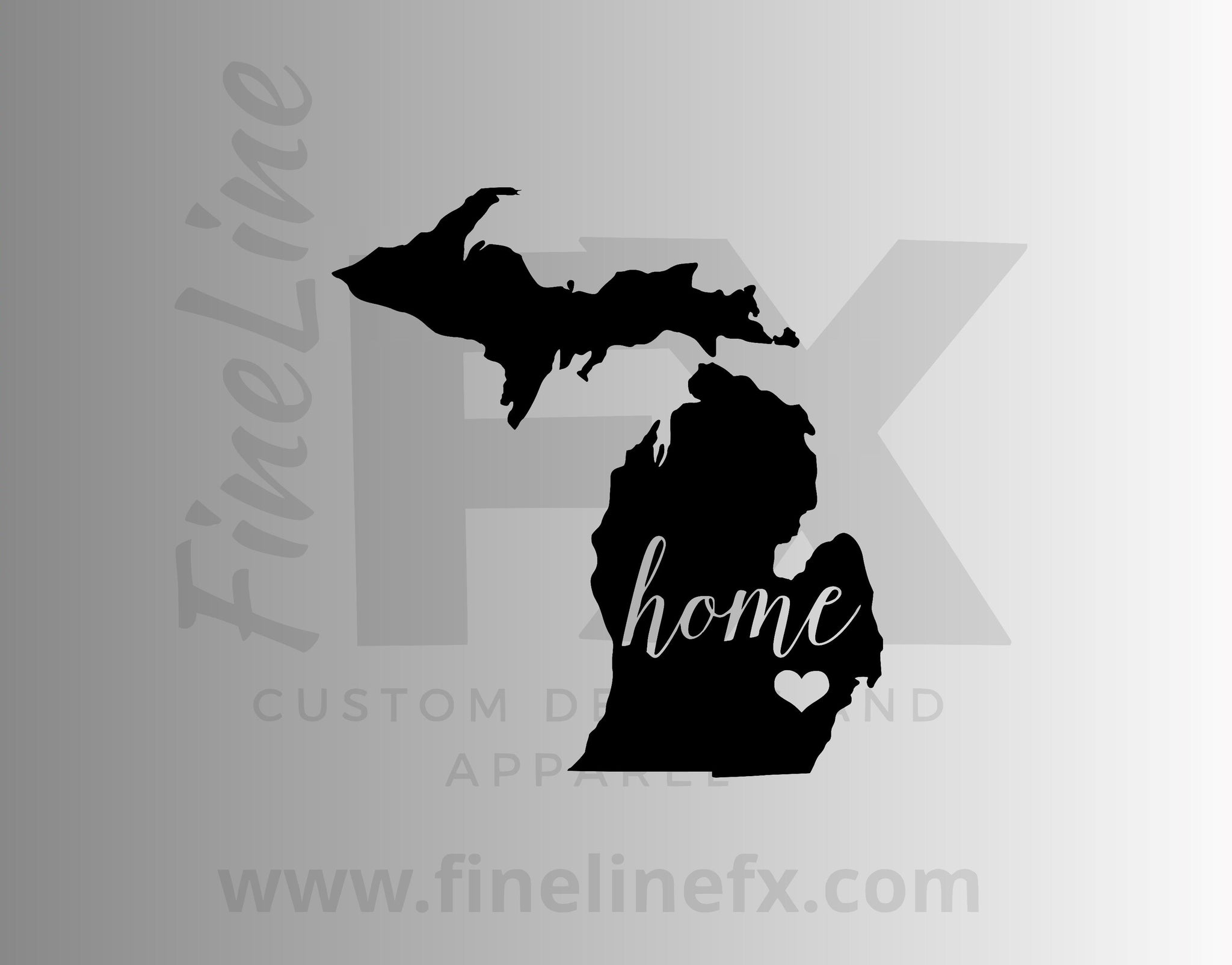 Michigan Home State Vinyl Decal Sticker