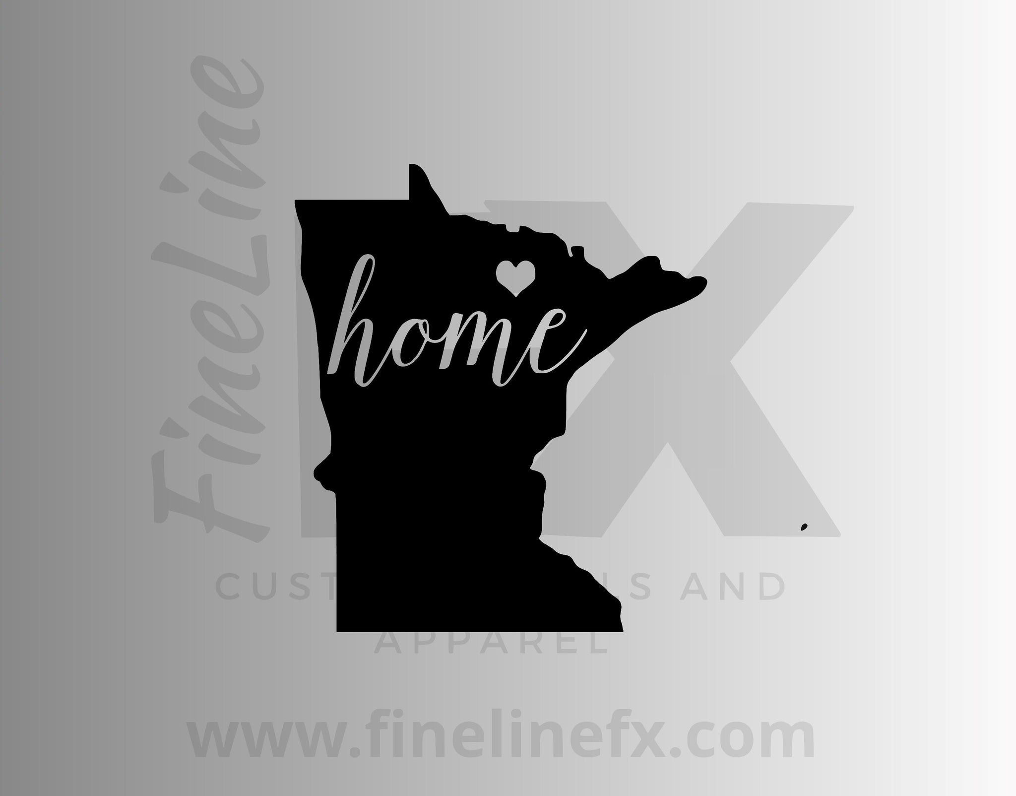 Minnesota Home State Vinyl Decal Sticker