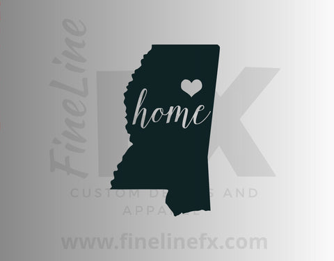 Mississippi Home State Vinyl Decal Sticker