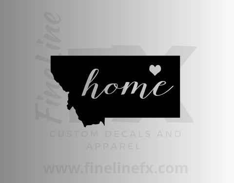 Montana Home State Vinyl Decal Sticker
