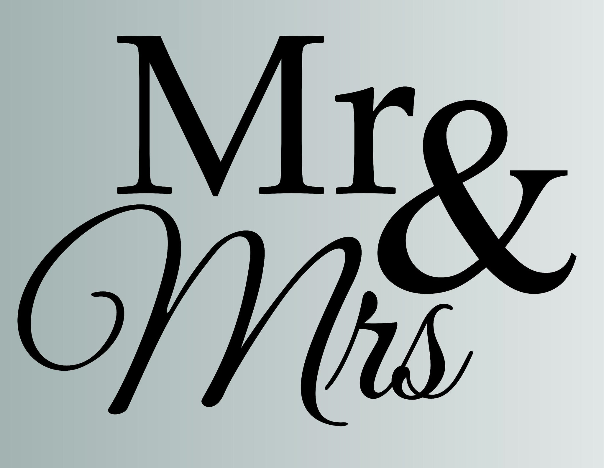 Mr And Mrs Die Cut Vinyl Wall Decal