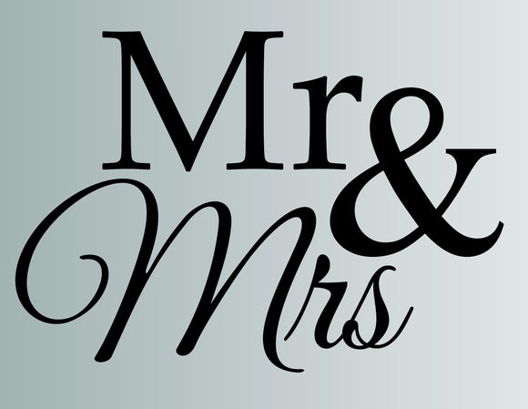 Mr And Mrs Die Cut Vinyl Wall Decal - FineLineFX