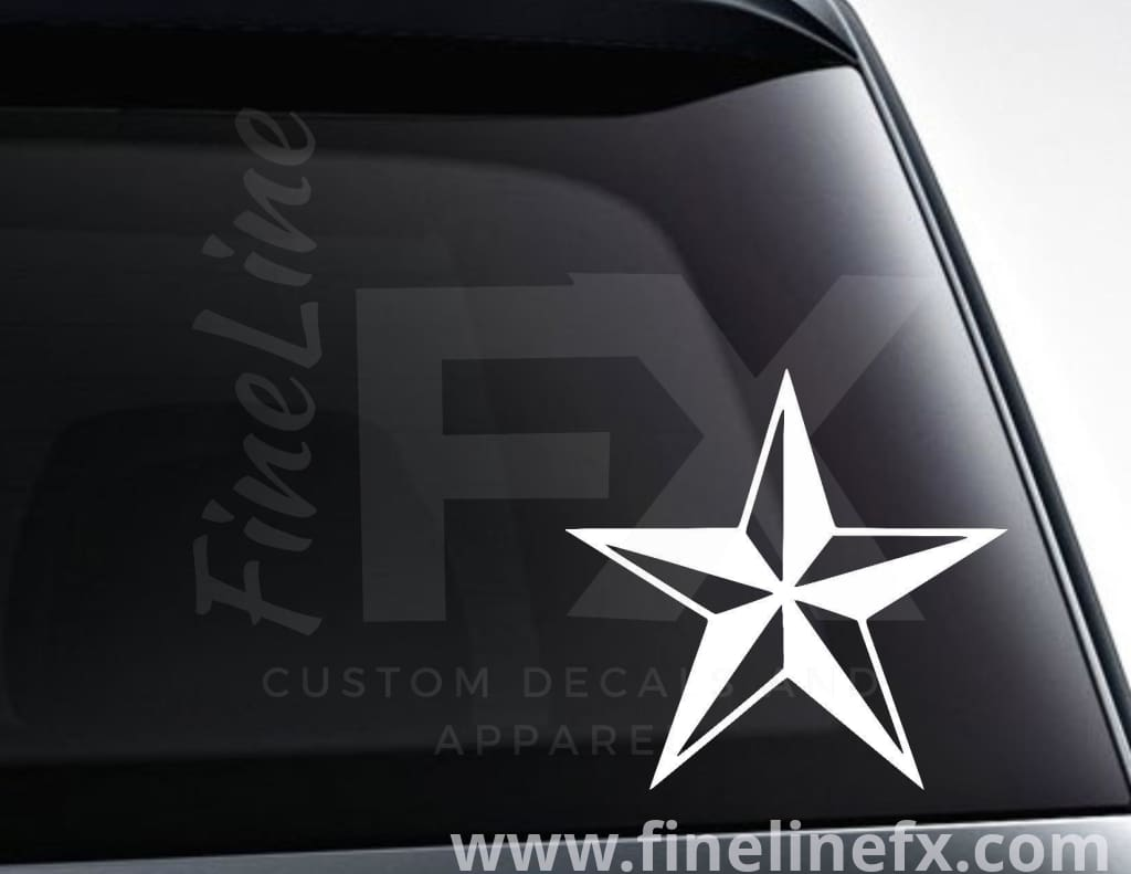 Nautical Star Vinyl Decal Sticker