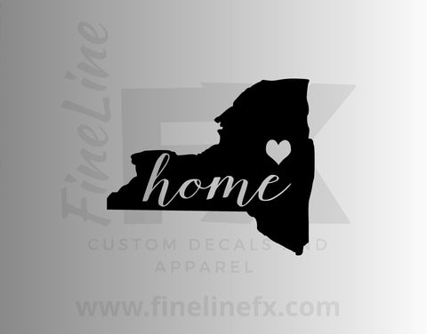 New York Home State Vinyl Decal Sticker