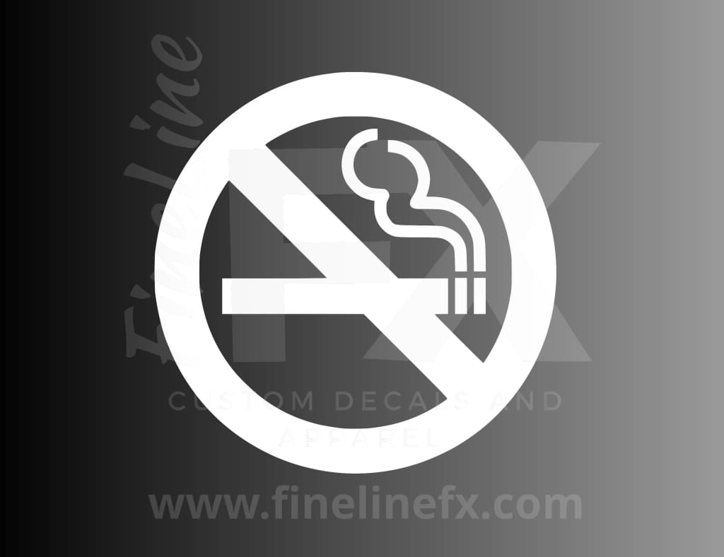No Smoking Symbol Vinyl Decal Sticker