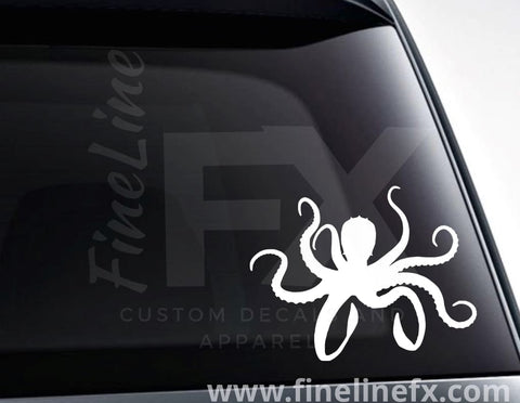 Octopus Silhouette Vinyl Decal Sticker
