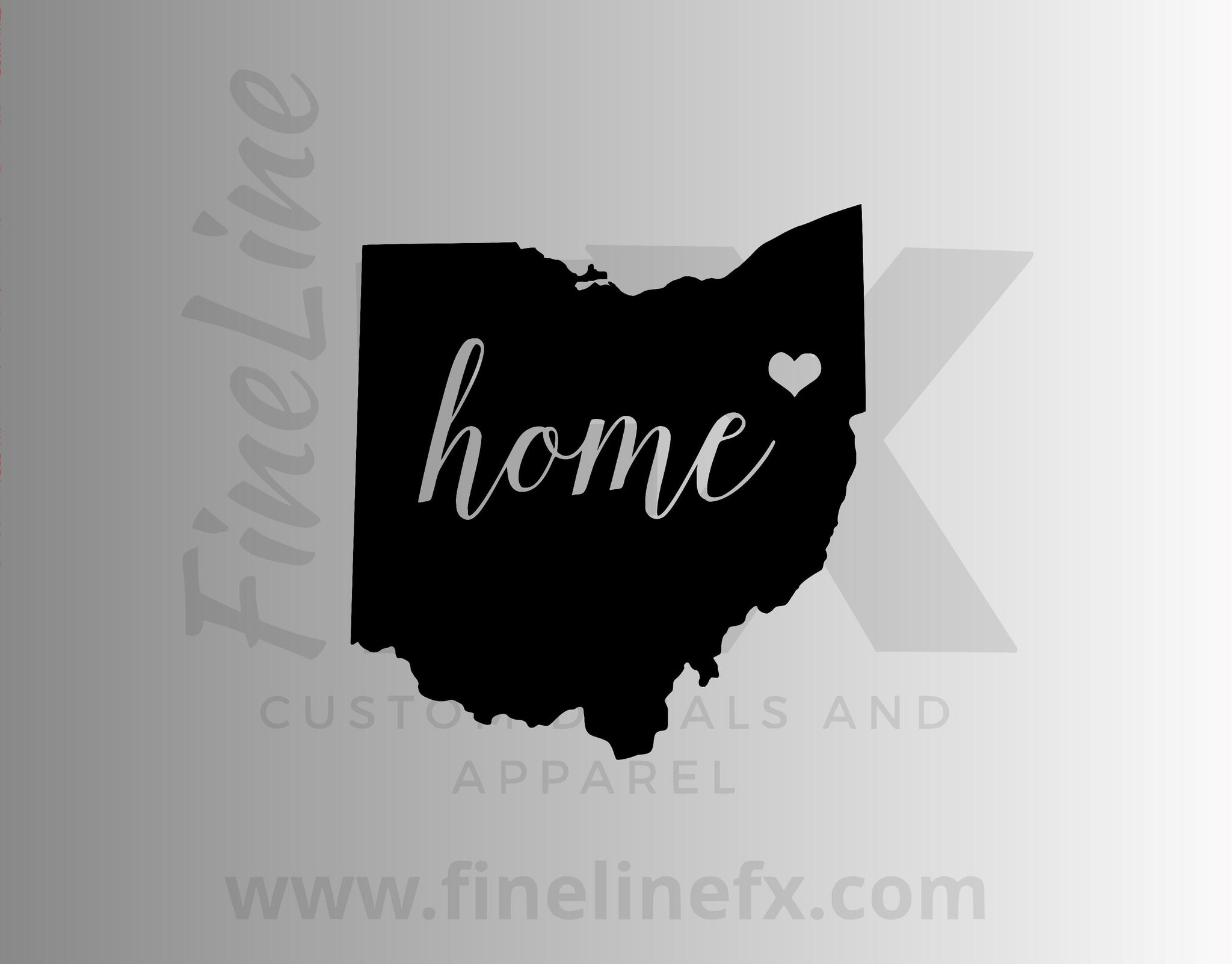 Ohio Home State Vinyl Decal Sticker