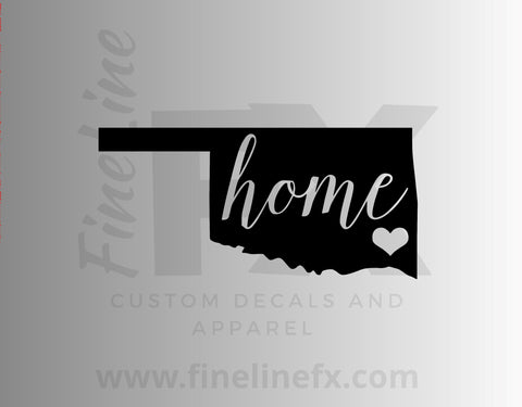 Oklahoma Home State Vinyl Decal Sticker