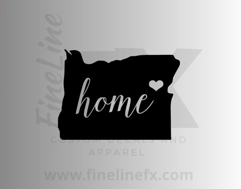 Oregon Home State Vinyl Decal Sticker