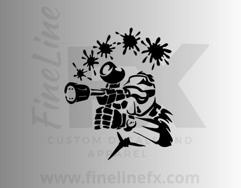 Paintball Player Vinyl Decal Sticker