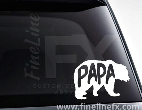 Papa Bear Vinyl Decal Sticker