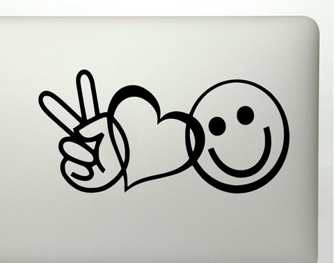 Peace Love And Happiness Vinyl Decal Sticker