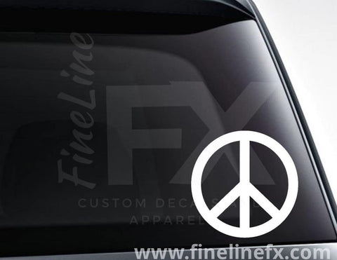 Peace Sign Vinyl Decal Sticker