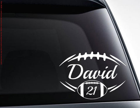 Personalized Football Vinyl Decal Sticker