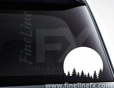 Pine Trees Forest Background Vinyl Decal Sticker