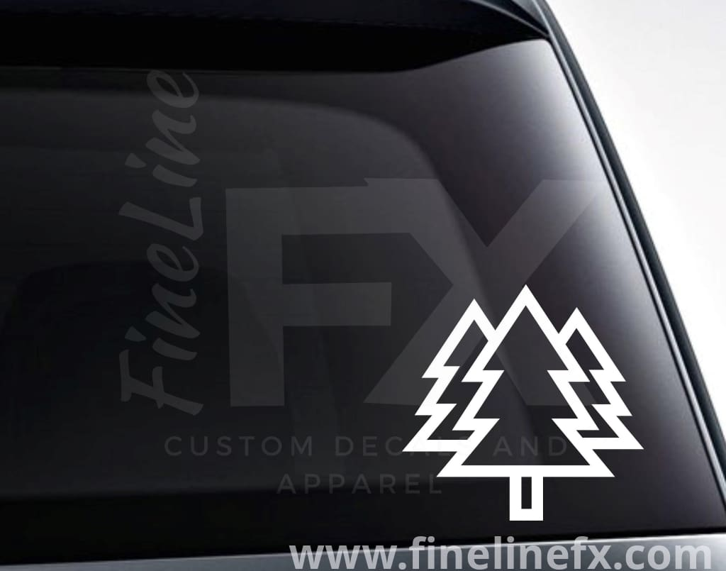 Pine Trees Outdoors Forest Vinyl Decal Sticker