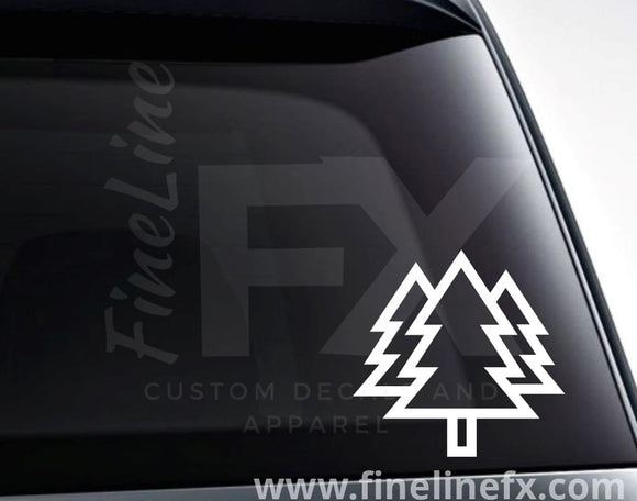 Pine Trees Outdoors Forest Vinyl Decal Sticker - FineLineFX