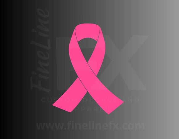 Pink Breast Cancer Ribbon Vinyl Decal Sticker - FineLineFX
