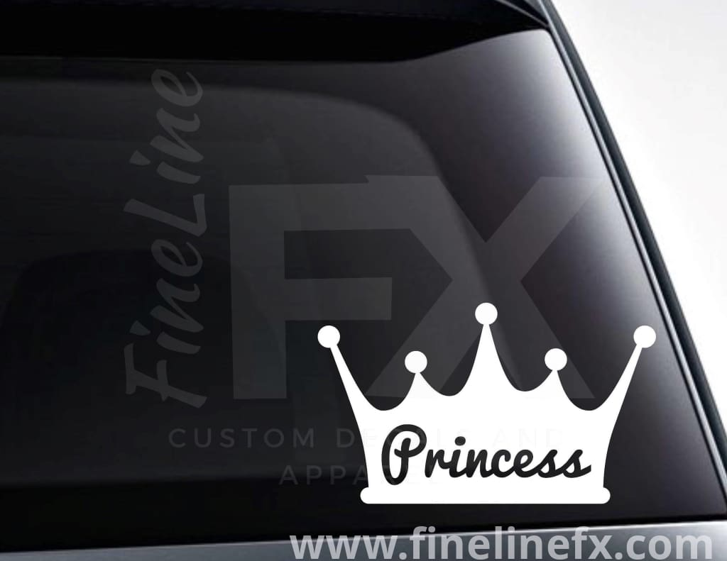 Princess Crown Vinyl Decal Sticker