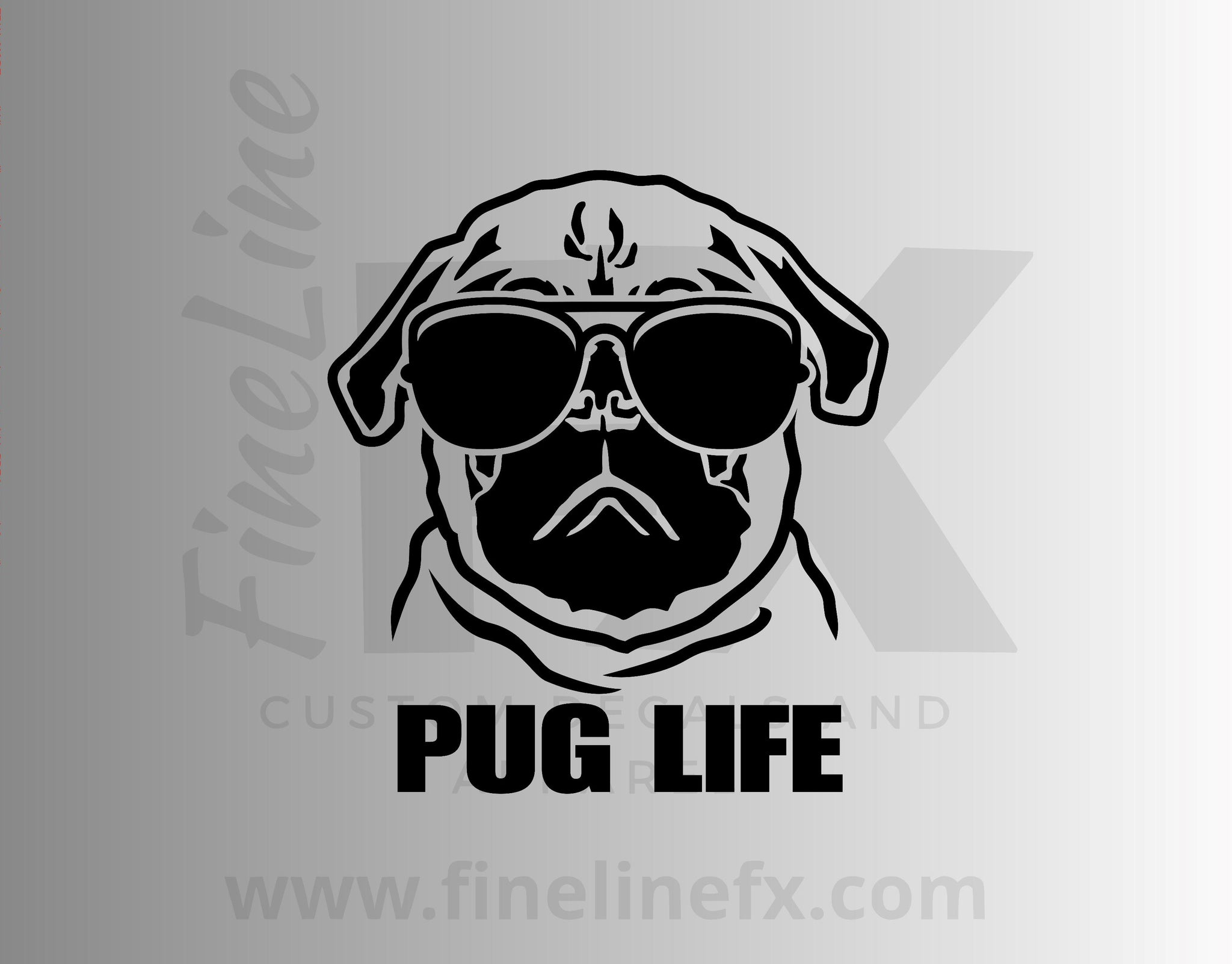 Pug Life Vinyl Decal Sticker