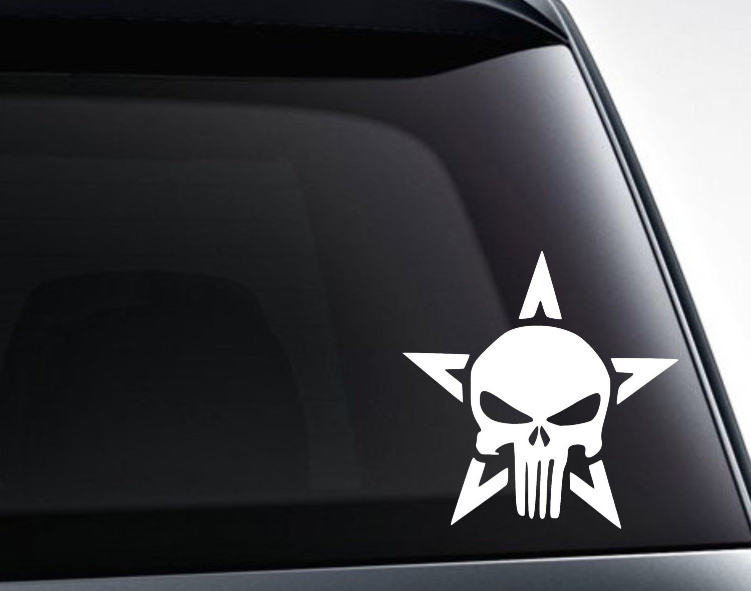 Punisher Star Vinyl Decal Sticker