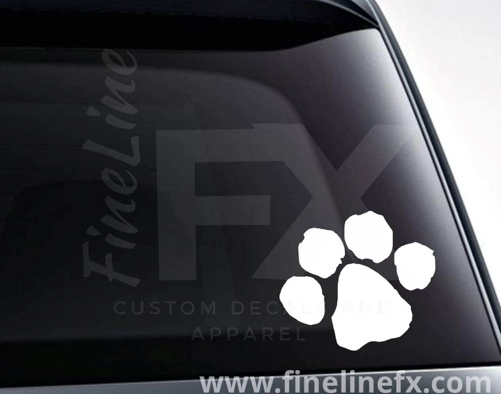 Puppy Dog Paw Print Vinyl Decal Sticker