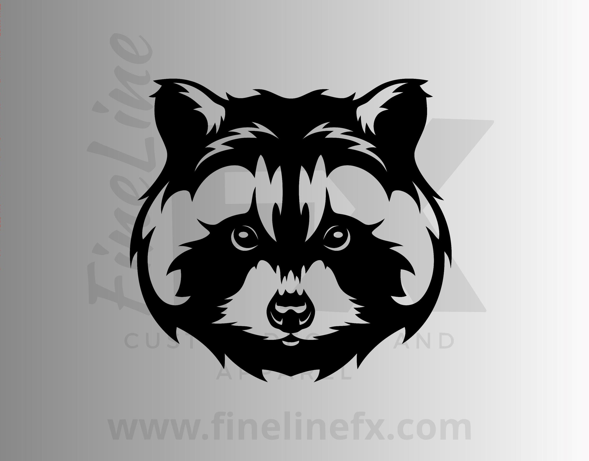 Raccoon Vinyl Decal Sticker