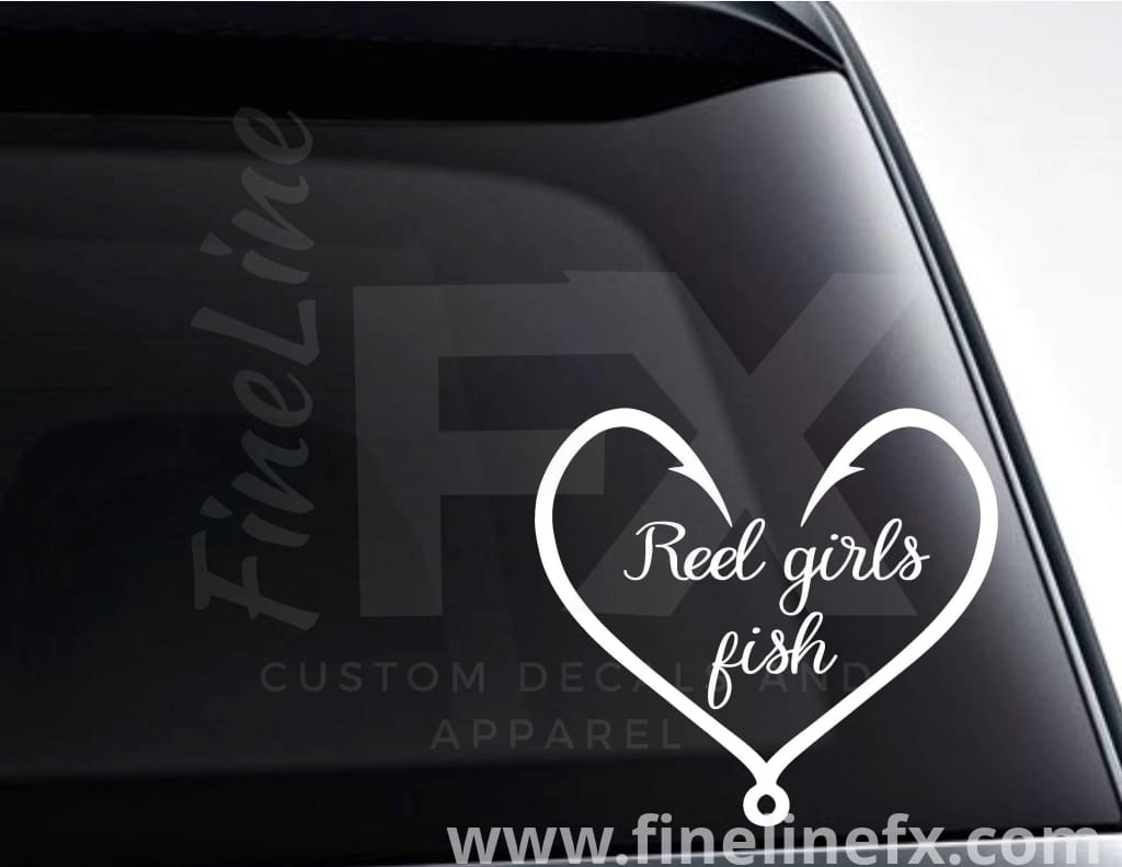 Reel Girls Fish Vinyl Decal Sticker